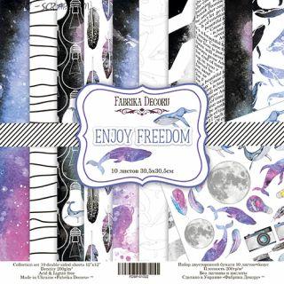 "Набор скрап бумаги ""Enjoy freedom"", 30,5x30,5 см FD"