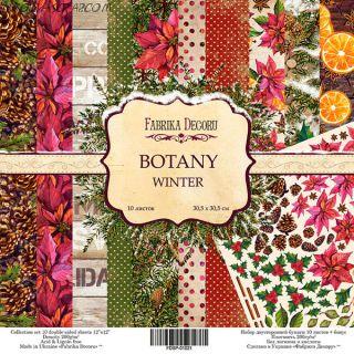 """Набор скрап бумаги """"Botanica winter"""", 30,5x30,5 см FD"""
