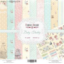 "Набор скрап бумаги ""Baby Shabby"", 30,5 x 30,5 см FD"