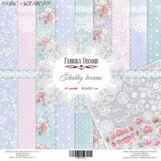 "Набор скрап бумаги ""Shabby Dreams"", 30,5 см x 30,5 см FD"