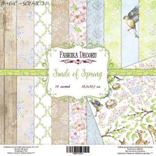 """Набор скрап бумаги """"Smile of Spring"""", 30,5 см  х 30,5 см FD"""