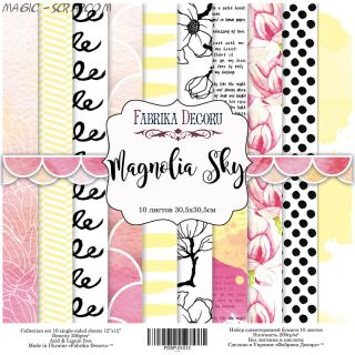 "Набор скрап бумаги ""Magnolia Sky"", 30,5 х 30,5 см FD"