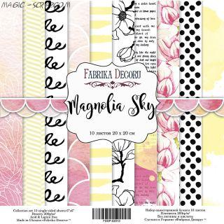 """Набор скрап бумаги """"Magnolia Sky"""", 20x20 см FD"""