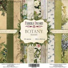 """Набор скрап бумаги """"Botany summer"""", 30,5 Х 30,5 FD"""
