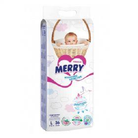 Подгузники Merry L36 (9-16кг), 36шт