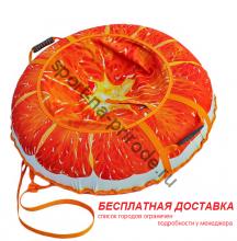 """Санки-ватрушка (тюбинг) """"Сочный апельсин 110"""" с камерой"""