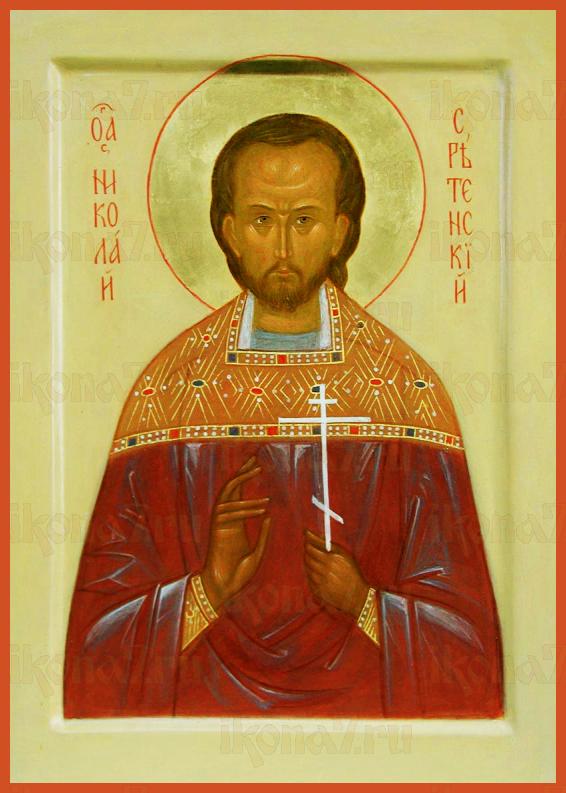 Николай Толгский (рукописная икона)