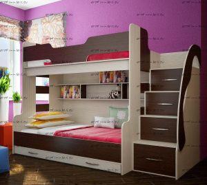 Кровать двухъярусная Фанки Кидз-21 СВ
