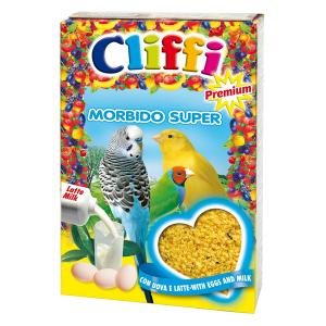 Корм Cliffi Morbido Super Яичный с молоком 300гр для всех зерноядных птиц