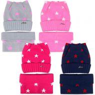 Комплект  для девочки 6-12 лет( шапка на флисе, снуд) №SG109А