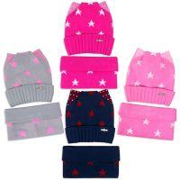 Комплект  для девочки 6-12 лет( шапка, снуд) №SG110А