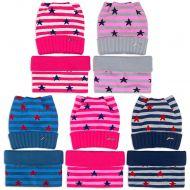 Комплект  для девочки 6-12 лет( шапка, снуд) №SG112А