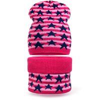 Комплект  для девочки 6-12 лет( шапка, снуд) №SG109А