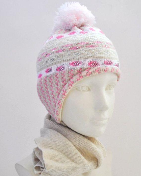 Розовый зимний комплект для девочки