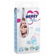 Подгузники Merry M42 (6-11кг), 42шт