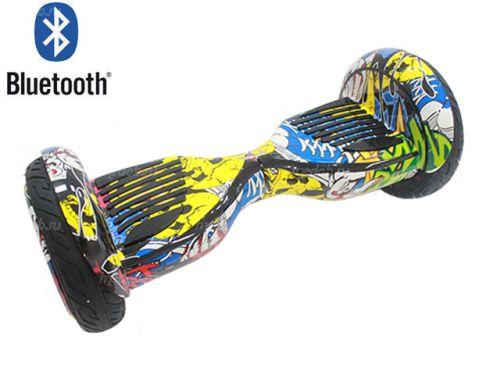 """Гироскутер Smart Balance Wheel Premium 10.5"""" Граффити жёлтый"""