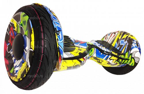 """Гироскутер Smart Balance Wheel Suv New 10.5 """" Хип Хоп жёлтый + приложение Tao Tao + Самобаланс"""