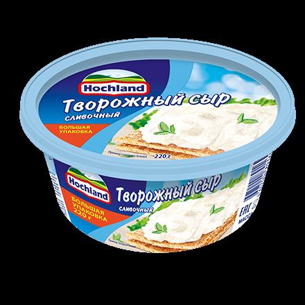 Сыр Хохланд 60% 220г творожный сливочный ванночка