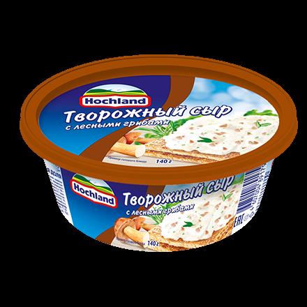 Сыр Хохланд 60% 140г творожный лесные грибы ванночка