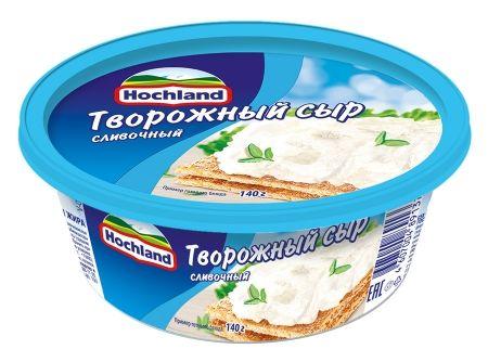 Сыр Хохланд 60% 140г творожный зелень ванночка