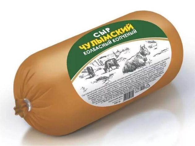 Сыр колбасный копченый Чулымский 200гр Фаворит