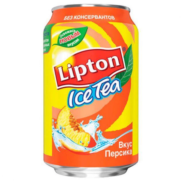 Чай Липтон 0,33л Персик ж/б Пепси