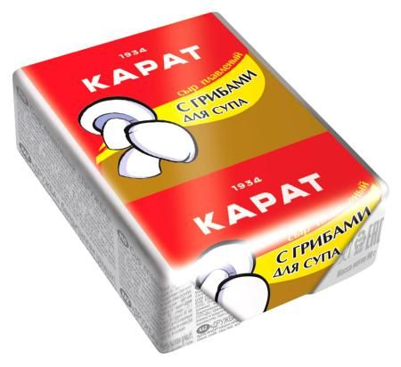 Сыр Карат С грибами для супа плавл. 30% 90г