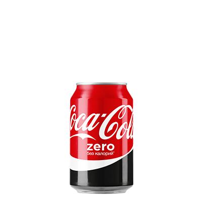 Газ. вода Кока-Кола 0,33л Zero ж/б Кока-Кола