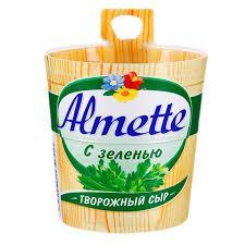 Сыр Альметте плавл. сливочный с зеленью 60% 150г