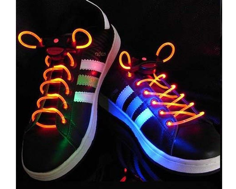 Шнурки с LED подсветкой (Цвет: Желтый)