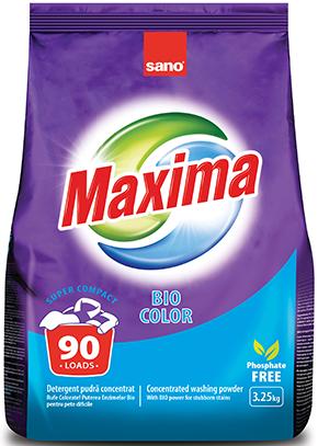 Sano Maxima концентрированный стиральный порошок Bio 90 стирок 3,25 кг