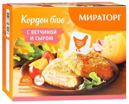 Кордон блю с ветчиной и сыром 405г Мираторг
