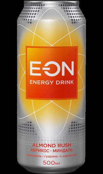 Энерг. напиток E-ON 0,5 ж/б Алмонд Раш (Абрик.Миндаль.Лимон)