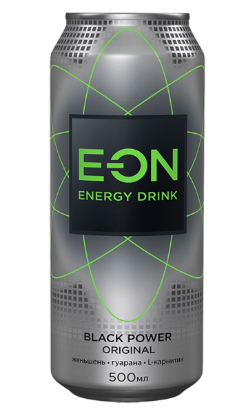 Энерг. напиток E-ON 0,5 ж/б Блэк Пауэр (Фр. Карам. Гуарана)
