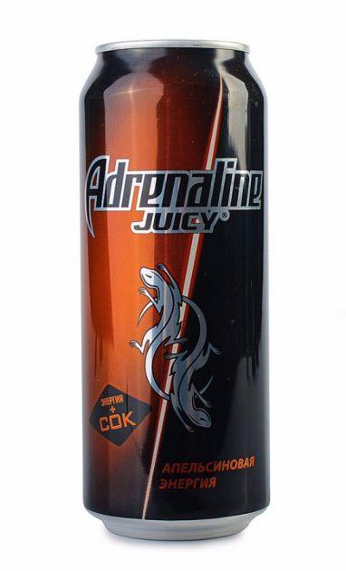 Энерг. напиток Адреналин 0,5л Juicy Апельсин ж/б Пепси