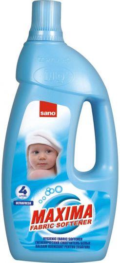 Sano Maxima Концентрированный смягчитель для белья Ultra Fresh: 1 л = 4 л обычного смягчителя для жёсткой воды гигиенический эффект 1 л