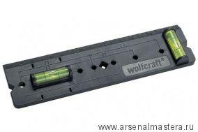 Линейка (шаблон) для разметки стены под розетки (метки 57, 71 и 91 мм, с вертикальным и горизонтальным уровнями) Wolfcraft 4050000