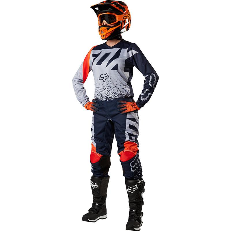Fox - 2018 180 Womens Grey/Orange комплект женский джерси и штаны, серо-оранжевый