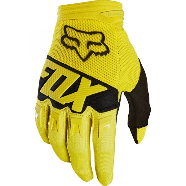 Fox - 2018 Dirtpaw Race Youth Yellow перчатки подростковые, желтые