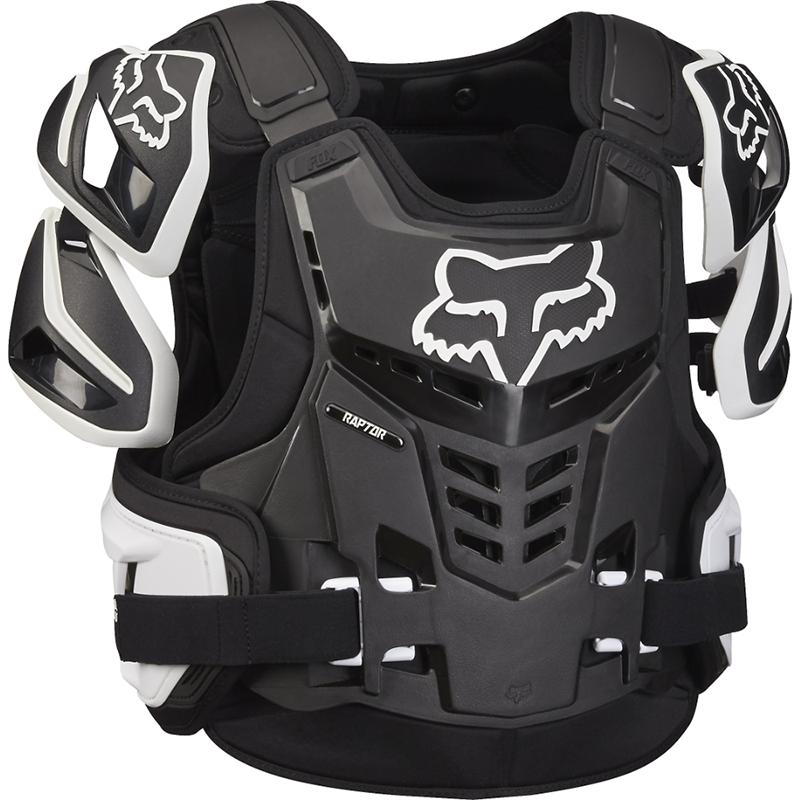 Fox - 2019 Raptor Vest CE Black/White жилет защитный черно-белый