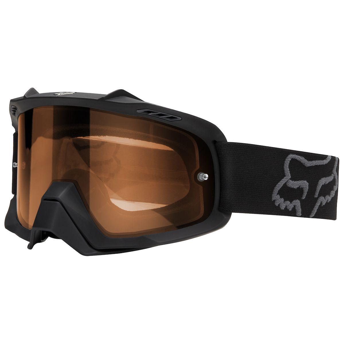 Fox - 2018 Air Space Enduro Matte Black/Orange очки, черные матовые с оранжевой линзой