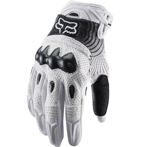 Fox Bomber Glove White/Black перчатки, бело-черные