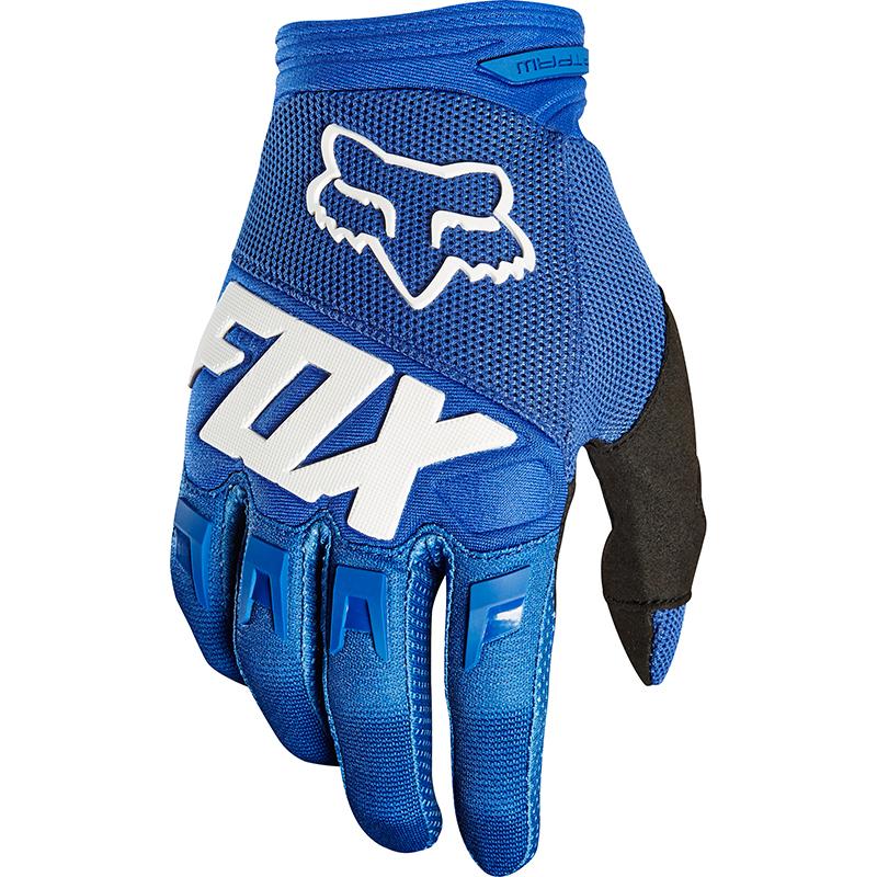 Fox - Dirtpaw Race Blue перчатки, синие