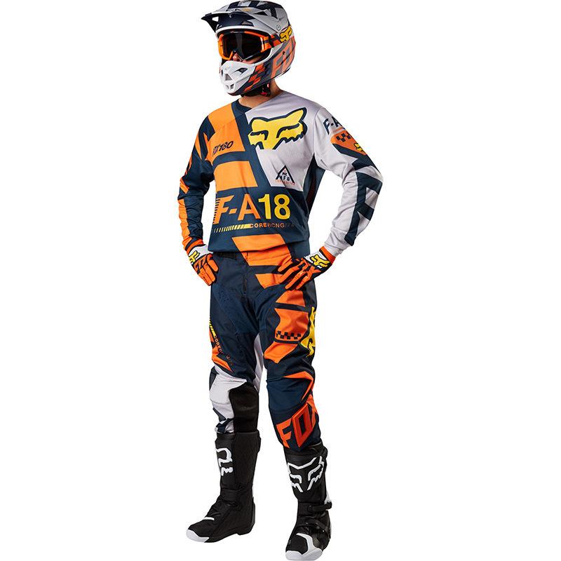 Fox - 2018 180 Sayak Orange комплект джерси и штаны, оранжевый
