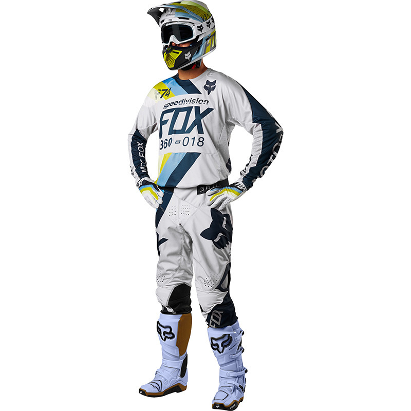 Fox - 2018 360 Draftr LT Grey комплект джерси и штаны, светло-серый