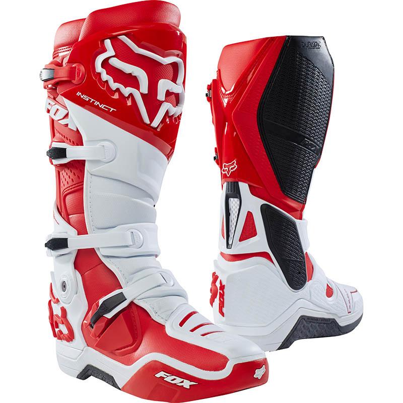 Fox - Instinct White/Red мотоботы, бело-красные