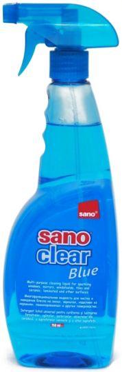 Sano Сlear Blue Средство для мытья стёкол и различных поверхностей придаёт блеск 1 л