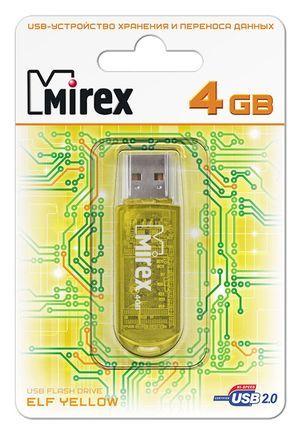 USB накопитель  4 ГБ  Mirex ELF YELLOW