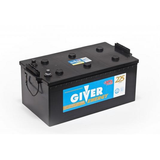 Аккумулятор GIVER ENERGY 225 ЕВРО 3 (+ -) КОНУС 1500А КУРСК