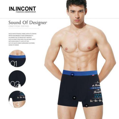 Мужские трусы боксеры  IN.INCONT  INC3623